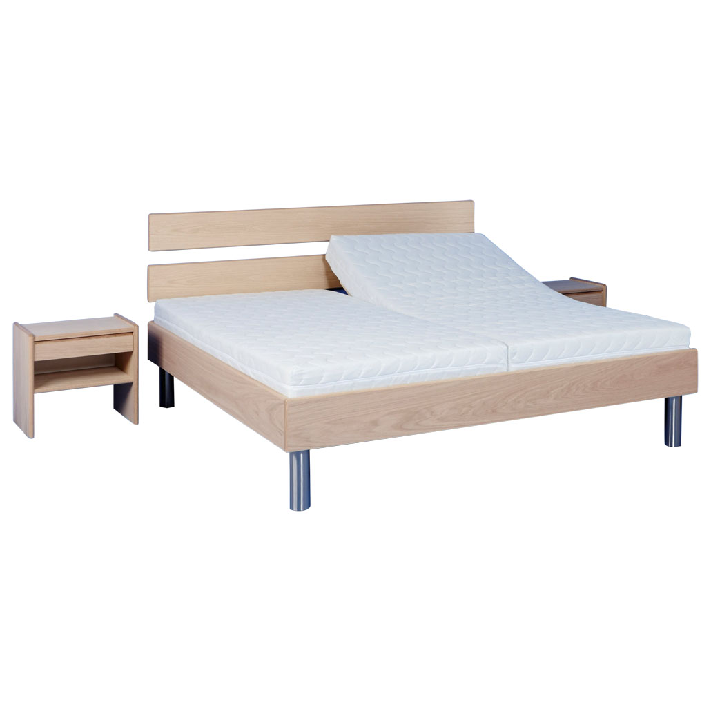 Beds, bedding, drawers, mattresses and bedside tables.